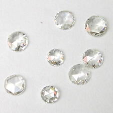 1+ Carats 3-4mmWHITE ROUND ROSE CUT POLISHED DIAMONDS