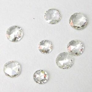 1 + Karat 3-4mmWHITE Rund Rose Schnitt Poliert Diamanten