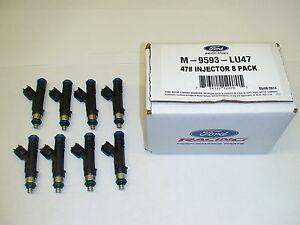 Ford Racing Bosch 47lb 47# fuel Injectors 2011-17 Mustang GT 5.0 Coyote Boss 302