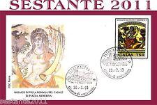 ITALIA FDC ROMA MOSAICO VILLA ROMANA DEL CASALE PIAZZA ARMERINA 1993  MATERA E67