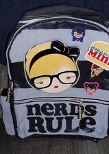 HARAJUKU MINI GWEN STEFANI GIRL'S BLACK BACKPACK NERDS RULE BRAND NEW WITH TAGS