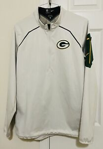 Nike Onfield NFL Green Bay Packers LOGO 1/4 Zip Jacket. Size S. Preowned.