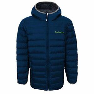 Outerstuff NFL Youth Seattle Seahawks Solid Packaway Puffer Jacket