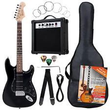 8-Teile Rocktile Bangers Pack E-Gitarren Set mit Verstärker Gigbag Gurt Schwarz