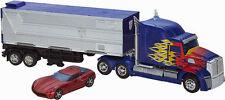 DHL Transformers AGE of Extinction Platinum Ed Optimus Prime Trailer Sideswipe