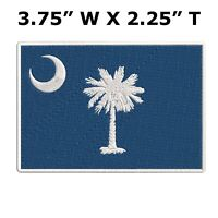 SOUTH CAROLINA STATE FLAG embroidered iron-on PATCH new APPLIQUE SOUVENIR EMBLEM