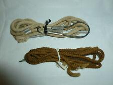 2 Vintage Factory Made Rope Fishing Stringers (Houser?)  Lot U-122