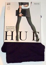 NWT Hue 3D Diamond Tights w/ Control Top Size 1 Color: Blackberry