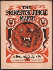 Princeton Jungle March 1905 Football Sheet Music