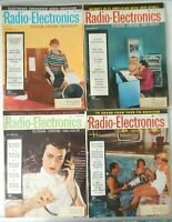 Lot of 4 Radio Electronic Magazines May - August 1957 Issues