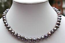 BR2G natürlich Süßwasser Zucht Perle Schmuck Perlenkette Halskette Kette Collier