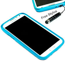 Aluminum Metal Frame Bumper Cover Case for Samsung Galaxy Note 2 II N7100 Blue