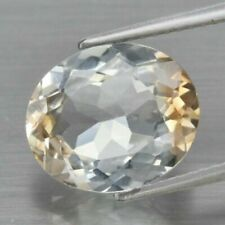 VS 5.38ct 12x10mm Oval Natural Light Champagne TOPAZ for Jewelry Setting