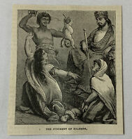 1885 magazine engraving~ THE JUDGMENT OF SOLOMON