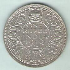 BRITISH INDIA - 1940 - GEORGE VI ONE RUPEE SILVER COIN EX-RARE COIN