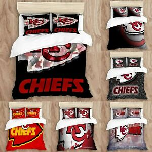 Kansas City Chiefs 3PCS Bedding Set Pillowcases Duvet Cover Twin Full Queen King