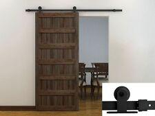 6Ft Black Modern European Style Barn Wood Steel Sliding Door Hardware Closet Set