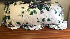Waverly Garden Room Pillow Sweet Violets Rectangle Bolster Back throw pillow