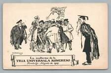 """Esperanto Congress CAMBRIDGE England """"Universala Kongreso"""" Chicago Cover 1907"""