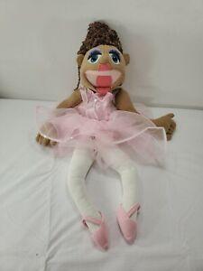 Melissa and Doug Ballerina Hand Puppet Plush Pretend Play