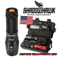 50000lm Shadowhawk X800 Flashlight CREE L2 LED Zoomable Torch+Battery+Charger
