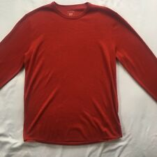 F47 Gap Red Mens Size M Cotton Polyester Blend Long Sleeve Jumper Sweater