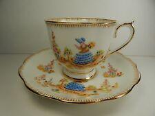 Royal Albert Dainty Dinah Tea Cup and Saucer. Crown China Backstamp 1927 - 1935
