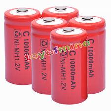 5C taille 1,2 V Ni-Mh 10000mAh batterie rechargeable cellule rouge pour torche flahlight