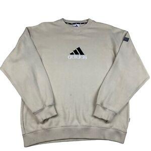 Adidas Sweatshirt Vintage Equipment Style 1990s Jumper EQT Centre Logo - Large