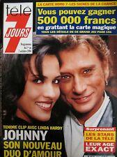 TELE 7 JOURS N° 1792 de 1994 JOHNNY HALLYDAY LINDA HARDY TOM SELLECK TENNIS