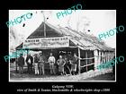 OLD LARGE HISTORIC PHOTO OF GULGONG NSW, THE SMITH & SOUTAR BLACKSMITH SHOP 1880