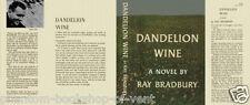 Ray Bradbury DANDELION WINE fac. jacket for 1st ed