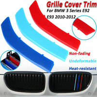 3Pcs Tricolor Sport Grill Grille Strip Cover Trim For BMW 3 Series E92 E93 10-12