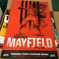 Baker Mayfield Game Poster Cleveland Browns vs Tennessee Titans Sept 2019 11x17