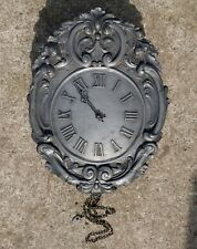 Lovely Vintage German Pewter Comtoise Style Wall Clock by Kieninger