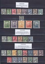 ZANZIBAR 1913-1936, 47 STAMPS, MINT & USED
