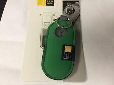 Case Logic USB-201 USB Flash Drive Case Green  with key ring