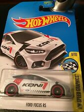 """HOT WHEEL HW SPEED GRAPHICS """"FORD FOCUS RS"""" #79 8 OF 10 CARS~NEW"""