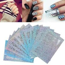 24 Sheets New Nail Hollow Irregular Grid Stencil Reusable Manicure Stickers Gift