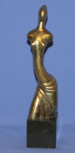 Hand Made Nude Woman Abstract Brass Art Work Statuette