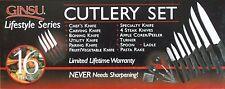 Reduced! 16 pc Ginsu Knife/Cutlery set