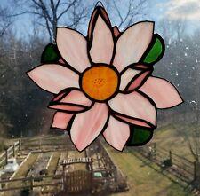 Handmade- Lotus Flower -Stained Glass - Sun catcher -