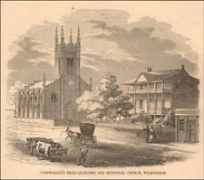WILMINGTON, NORTH CAROLINA, STREET VIEW, Cornwallis Headquarters, antique 1855