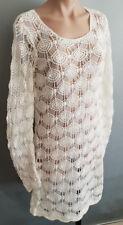 BNWT Ladies Size L 14 Mix Brand Crochet Cream Beach Coverup Dress