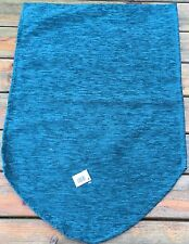 "Plain Teal Chenille  Chair Back, Polyester 14""x21"""