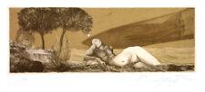 """Ernst Fuchs """"Weltreise des Einhorns. Luftreise."""" handsigniert"""