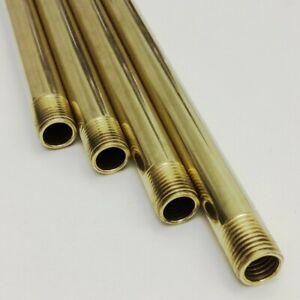 Tubo Pendente, 700mm/70cm, Ø10mm , Ottone Non Trattato, 2x M10x1 x10mm