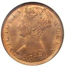 1900-H China Hong Kong Victoria Cent Coin (1C) - NGC MS64 RB (Red-Brown BU)