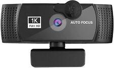 Computer Webcam Videoanrufe Mikrofon 1080P HD Streaming Windows schwarz 2 Stück