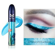 7 Colors Waterproof Shimmer Eyeshadow Glitter Liquid Eyeliner Metallic Cosmetic 2#